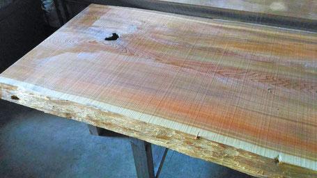 御山杉(神宮杉)一枚板テーブル
